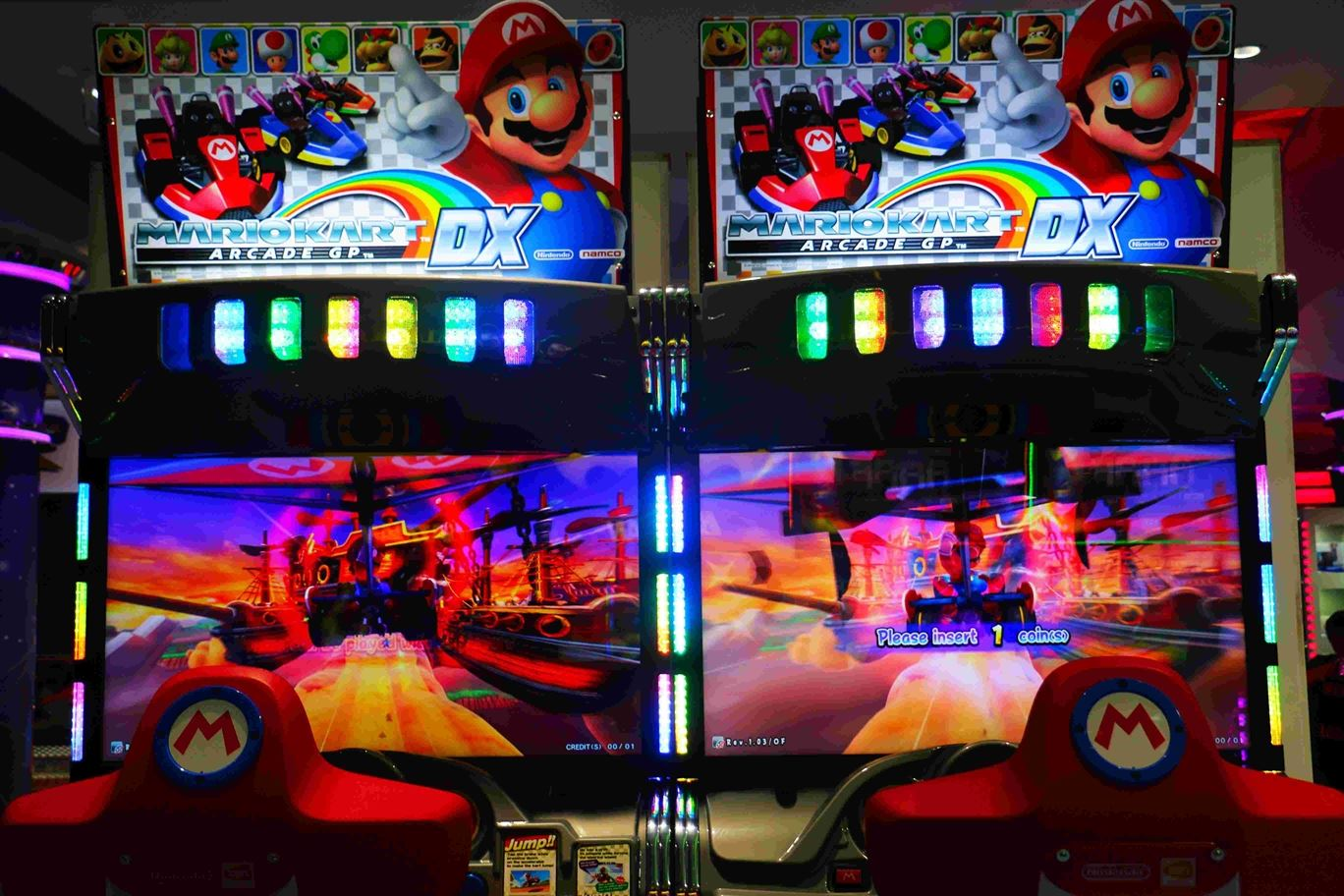 Mario Kart game at Magic Planet Mall of the Emirates