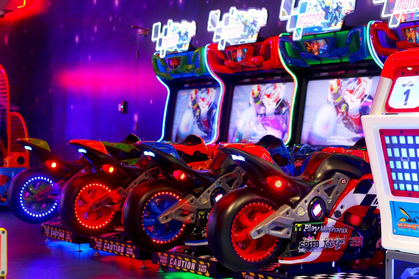 Moto GP game at Magic Planet Mall of the Emirates