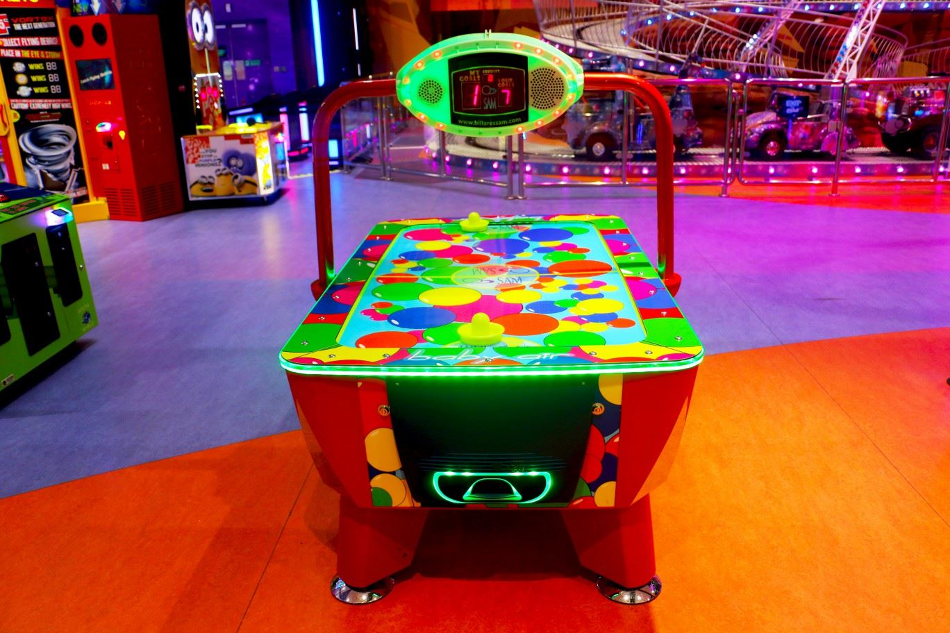 Baby Air Hockey at Magic Planet City Centre Shindagha