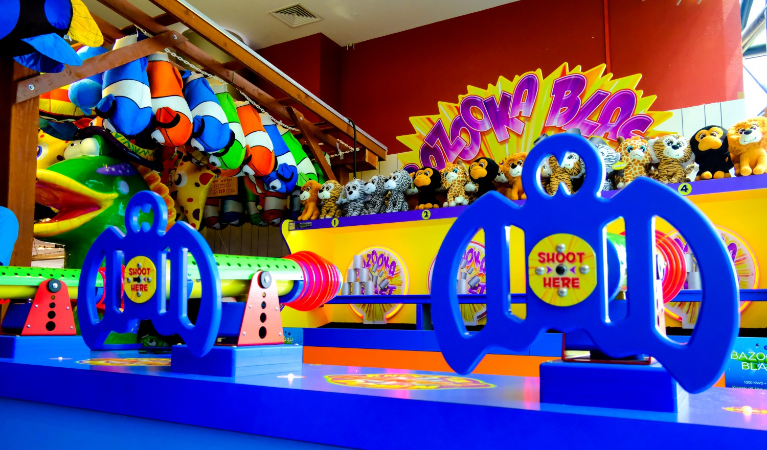 Bazooka Blast game at Magic Planet City Centre Mirdif South