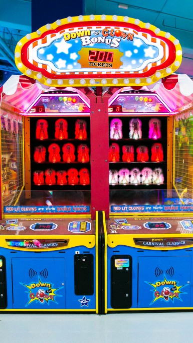 Down the Clown game at Magic Planet Marina Mall Abu Dhabi