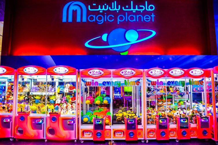 E-Claw game at Magic Planet Marina Mall Abu Dhabi