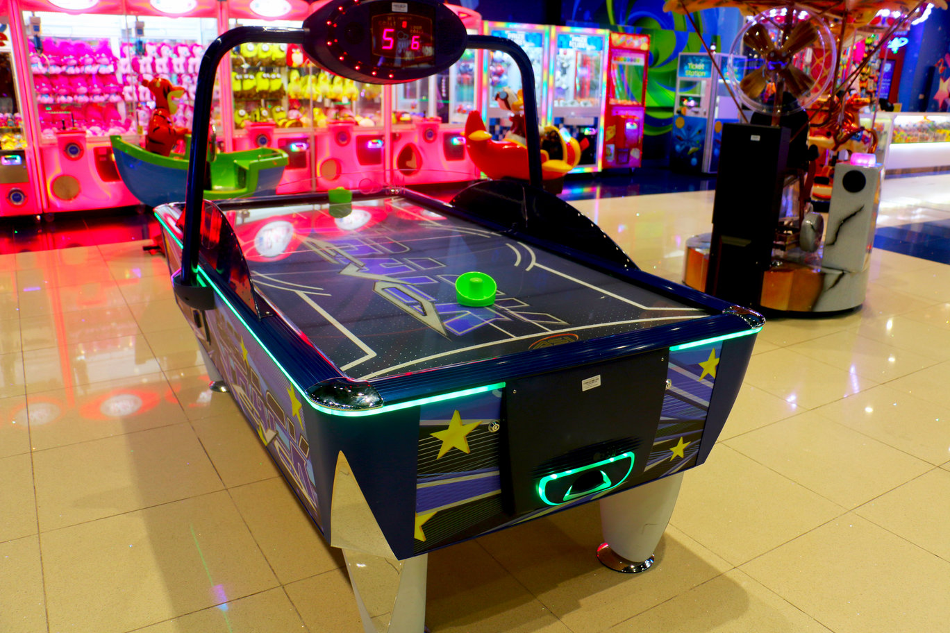 Fast Track Air Hockey game at Magic Planet City Centre Shindagha