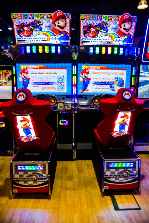 Mario Kart game at Magic Planet City Centre Meaisem