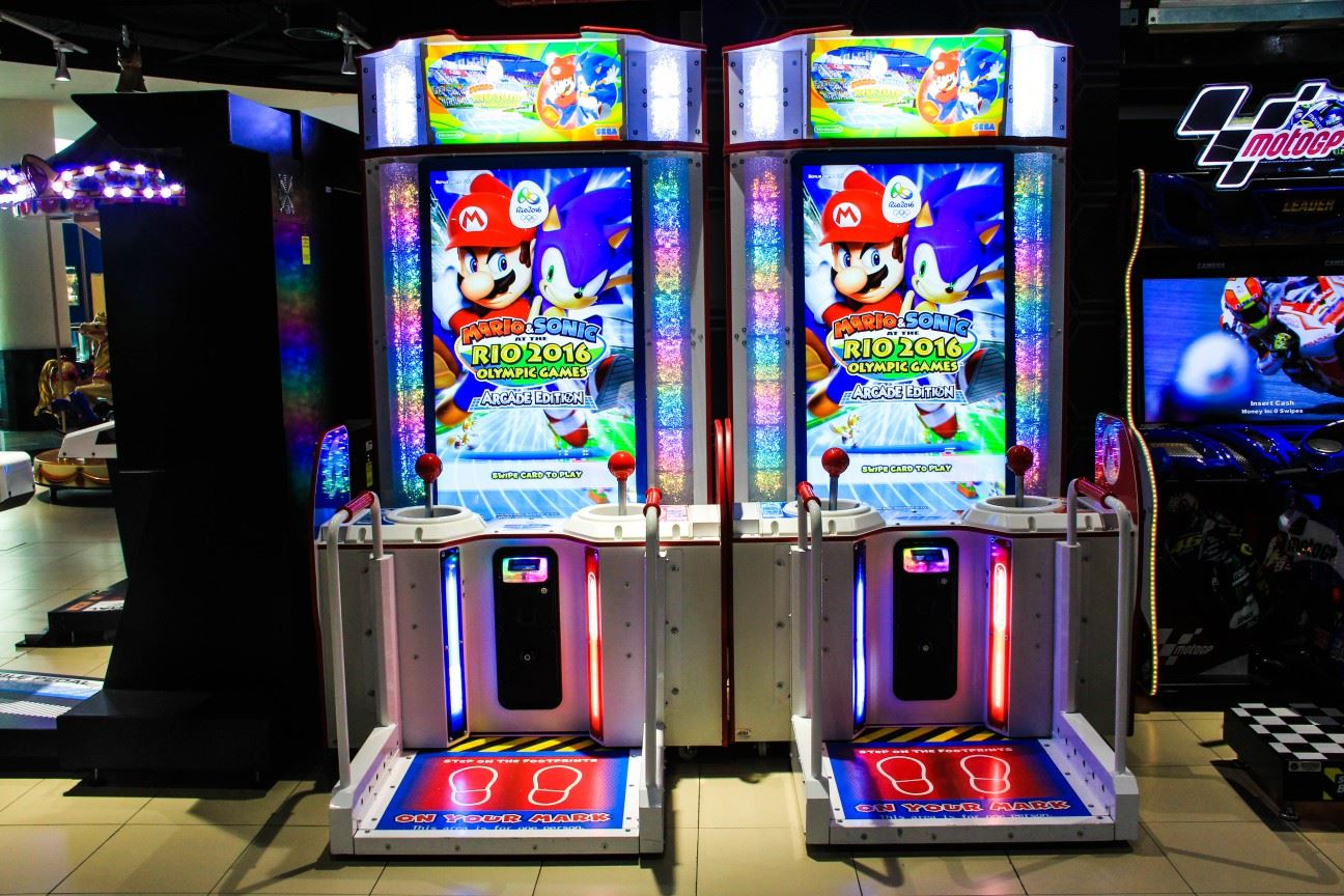 Mario Kart game at Magic Planet City Centre Shindagha