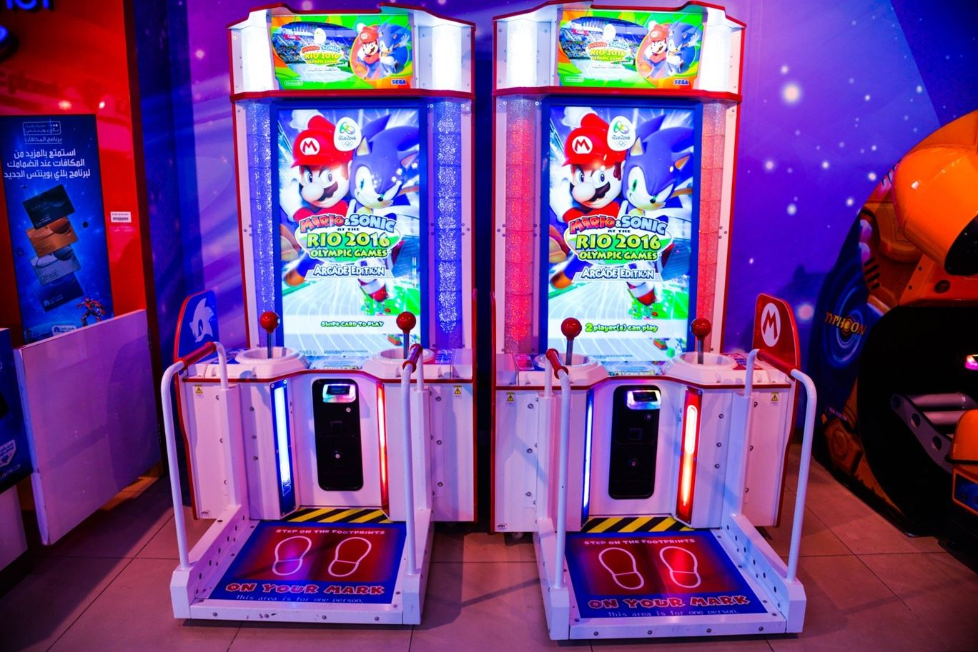 Mario vs Sonic at Rio Olympics game at Magic Planet Matajer Al Juraina