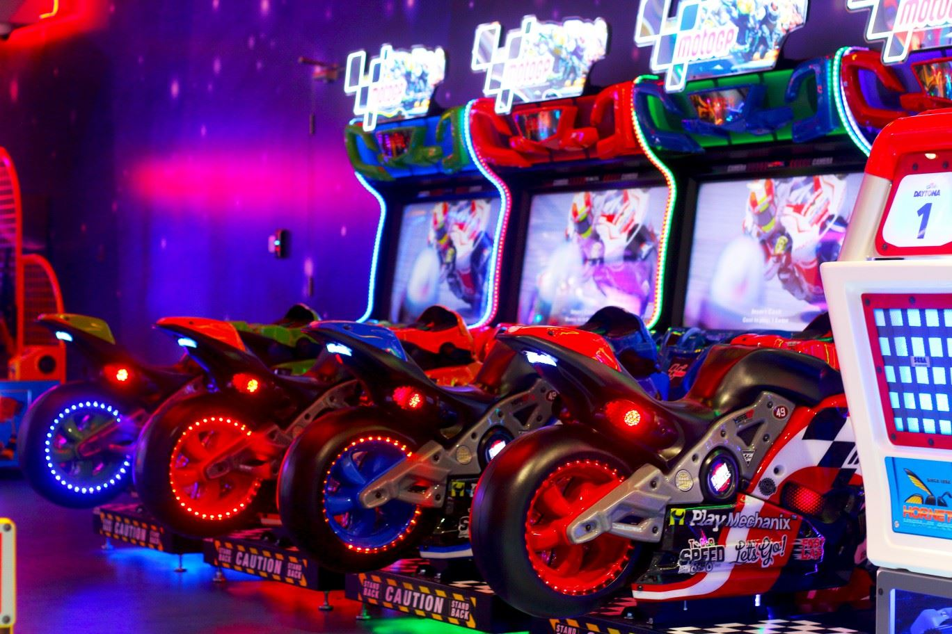 Moto GP game at Magic Planet City Centre Meaisem