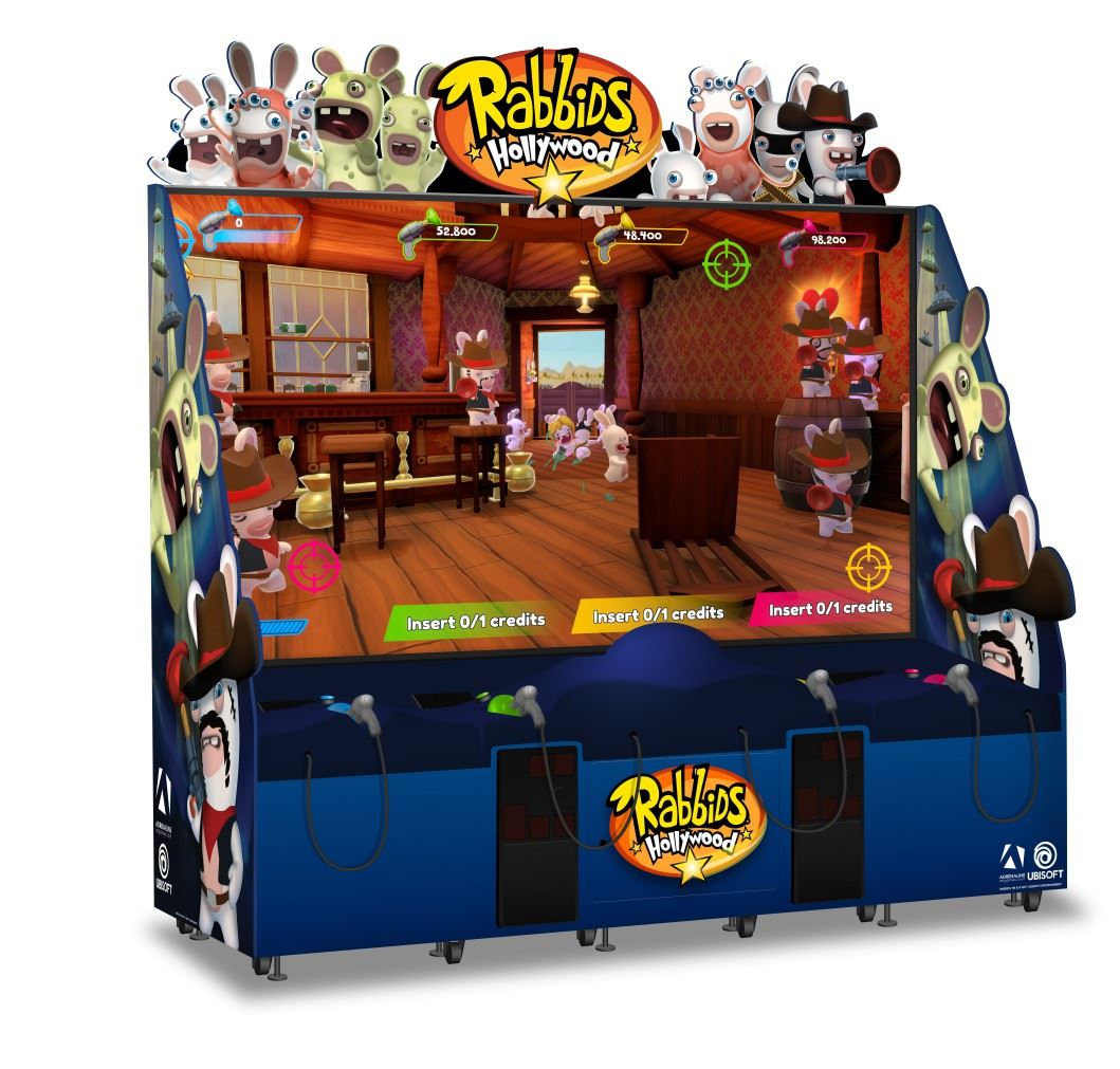 Rabbids Hollywood game at Magic Planet Marina Mall Abu Dhabi