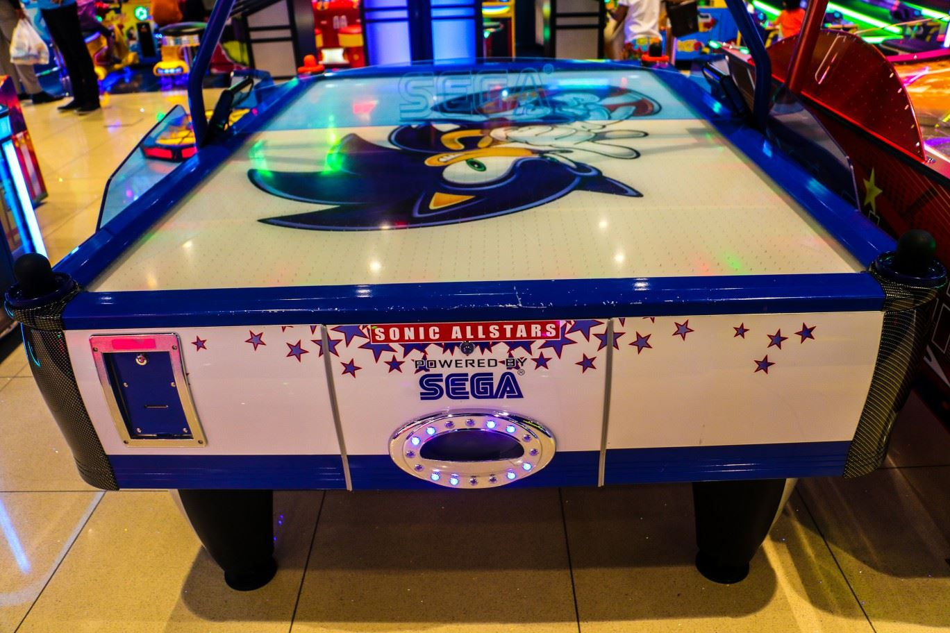 Sonic All Star Air Hockey game at Magic Planet City Centre Meaisem