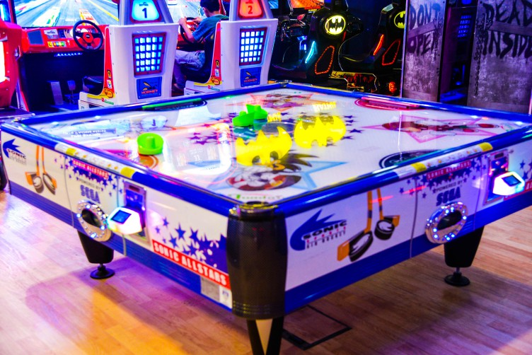 Sonic Sports Air Hockey game at Magic Planet City Centre Sharjah