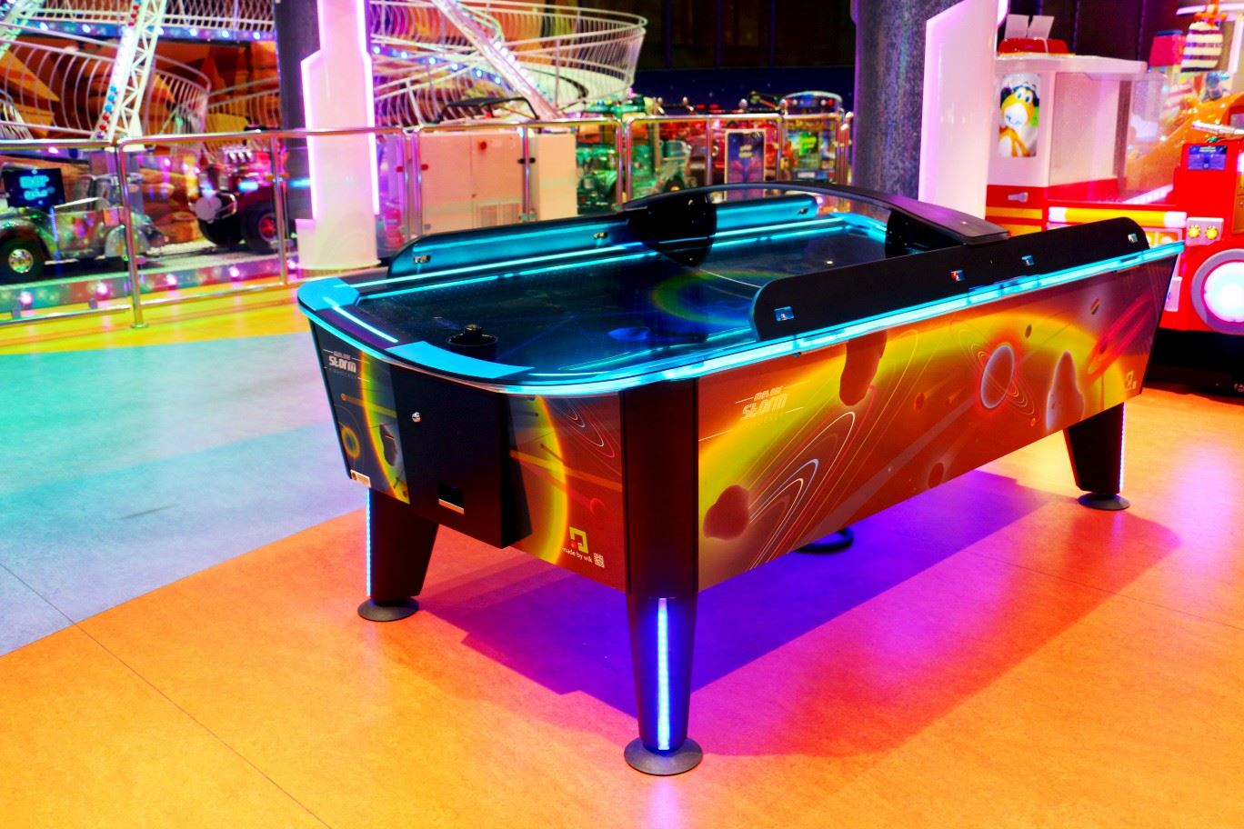 Storm Air Hockey game at Magic Planet Al Jimi Mall