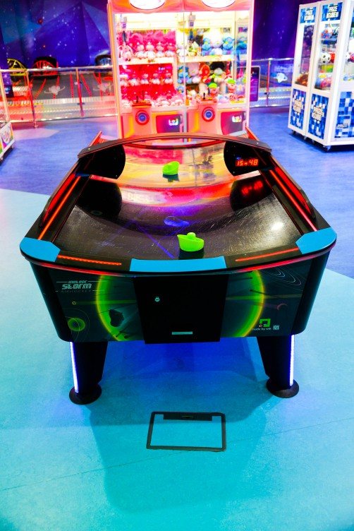 Storm Air Hockey game at Magic Planet Marina Mall Abu Dhabi