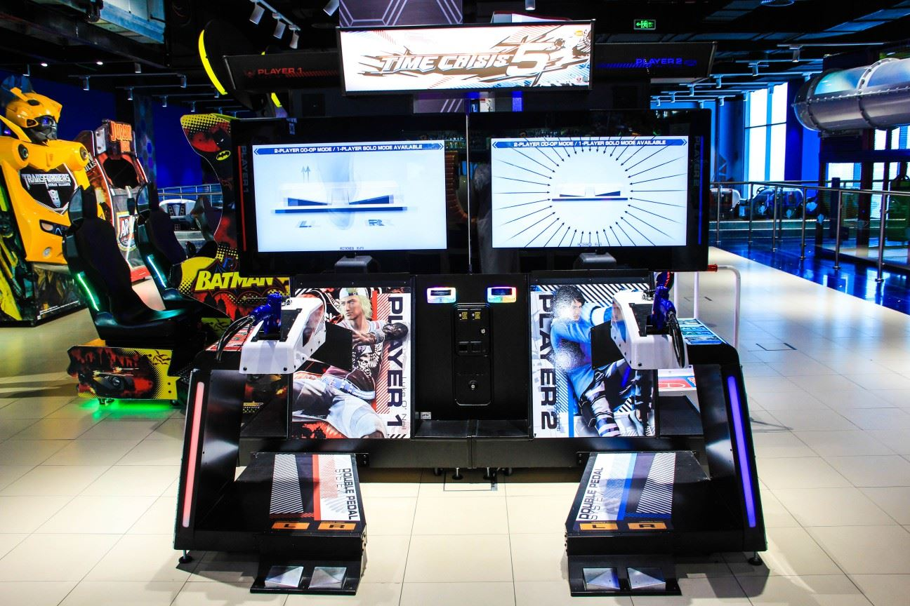 Time Crisis game at Magic Planet Al Jimi Mall