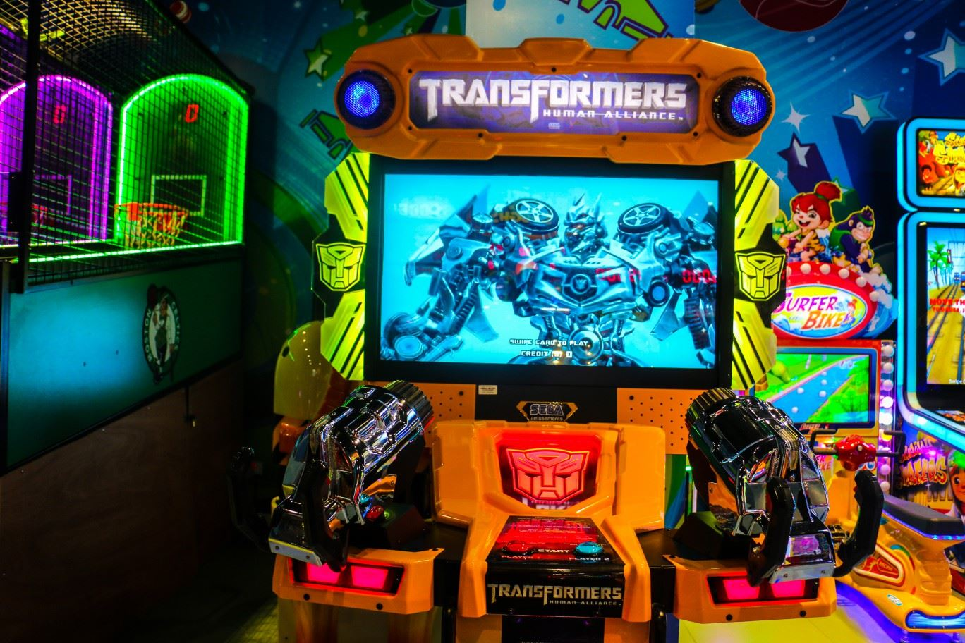 Transformers game at Magic Planet Mall of the Emirates