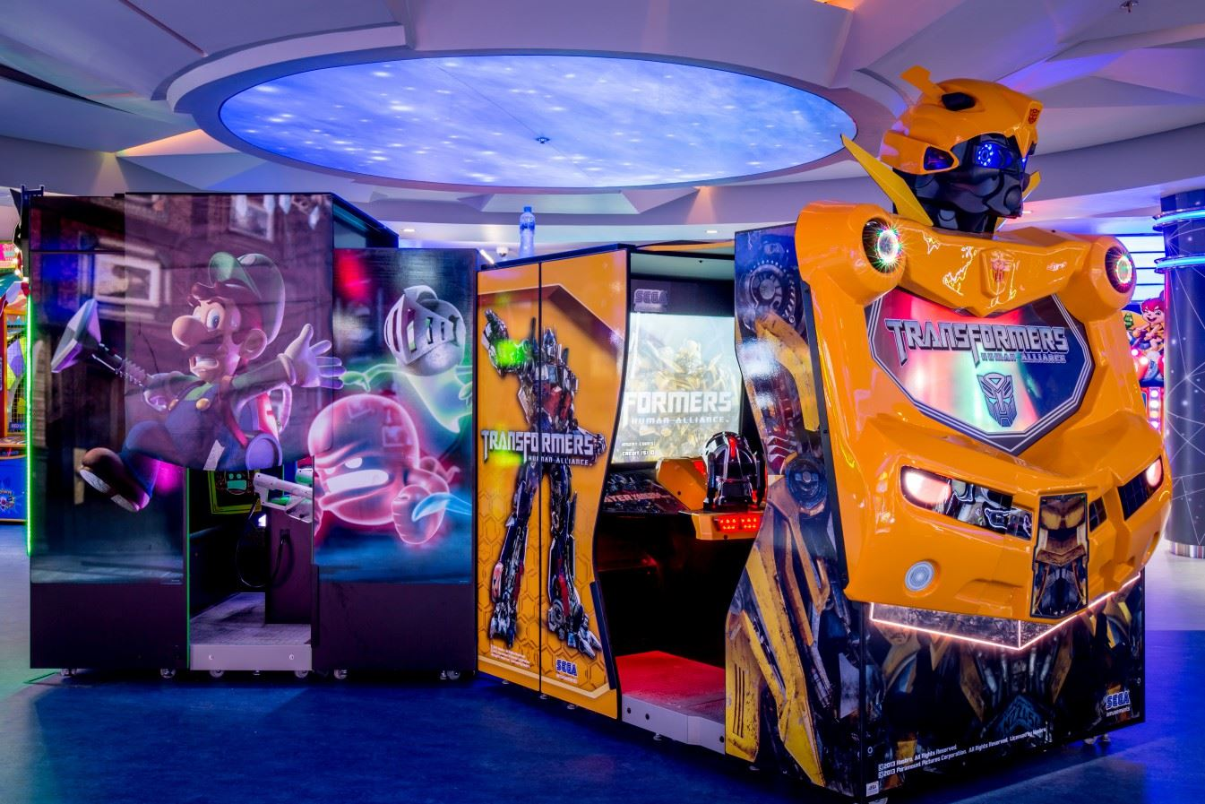 Transformers game at Magic Planet City Centre Shindagha