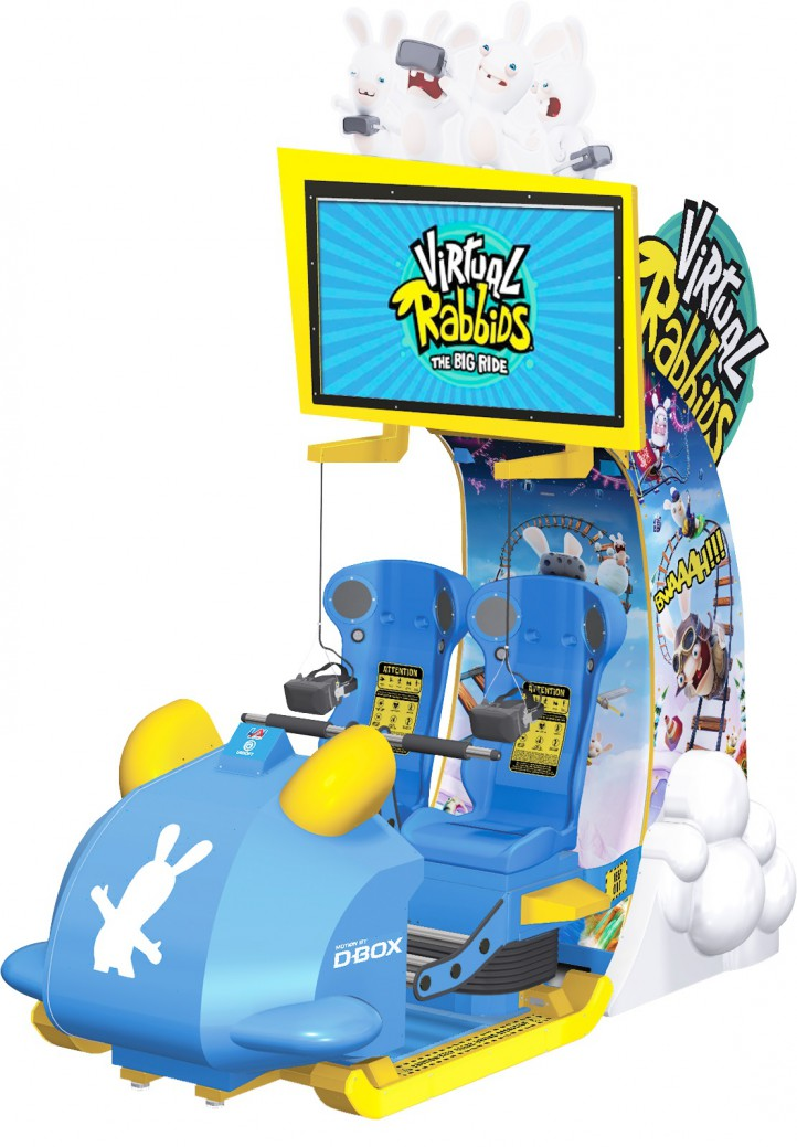 VR Rabbids game at Magic Planet Marina Mall Abu Dhabi